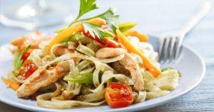 Spaghetti Dinde Legumes